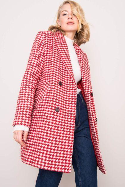 Czerwony płaszcz damski BSL