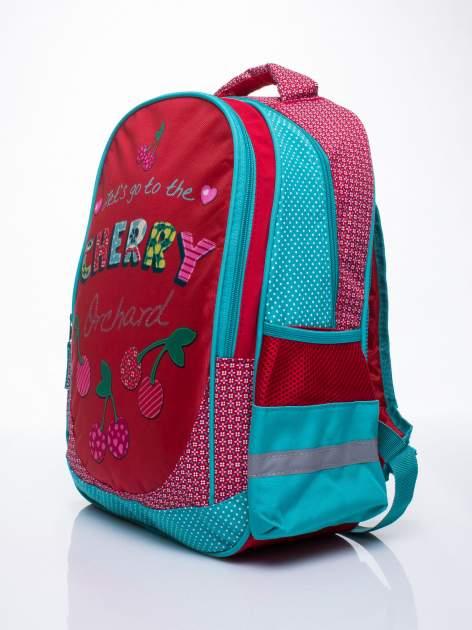 Czerwony plecak szkolny DISNEY w wisienki                                  zdj.                                  2