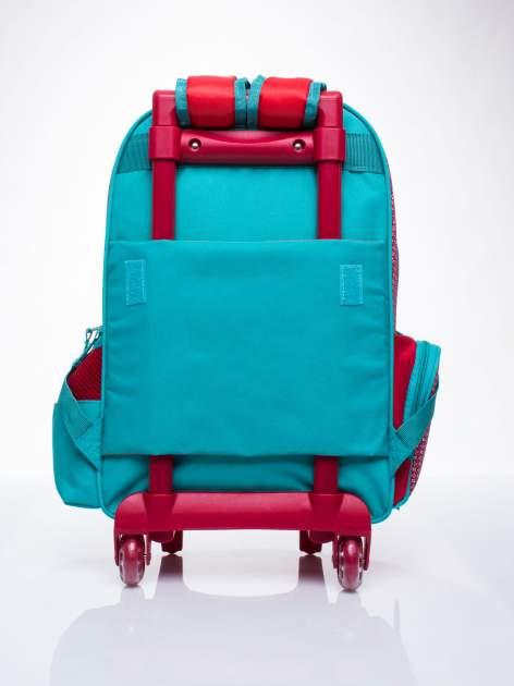 Czerwony plecak szkolny na kółkach walizka DISNEY w wisienki                                  zdj.                                  4