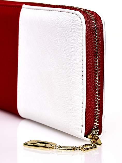 Czerwony portfel two tone z uchwytem                                  zdj.                                  5