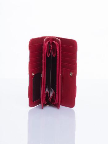 Czerwony portfel w paski                                  zdj.                                  3