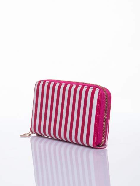 Czerwony portfel w paski z uchwytem                                  zdj.                                  2