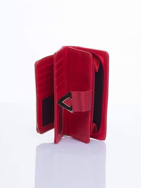 Czerwony portfel ze złotym detalem V                                  zdj.                                  4
