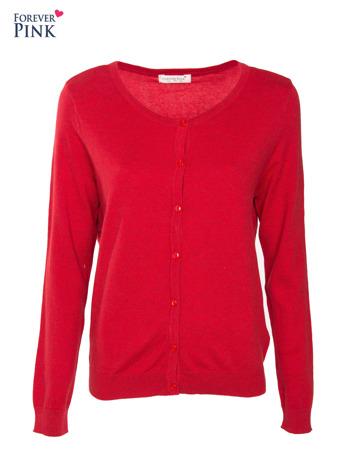 Czerwony rozpinany sweter z bawełny                                  zdj.                                  1