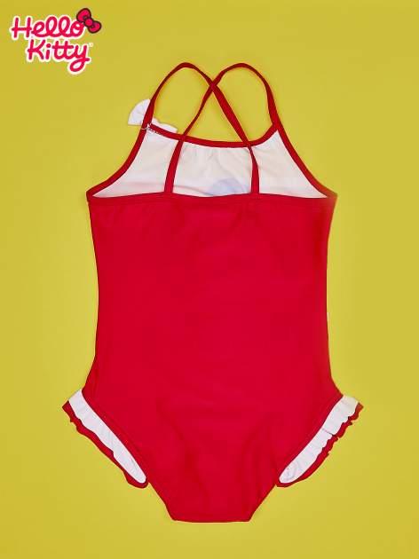 Czerwony strój kąpielowy dla dziewczynki HELLO KITTY                                  zdj.                                  2