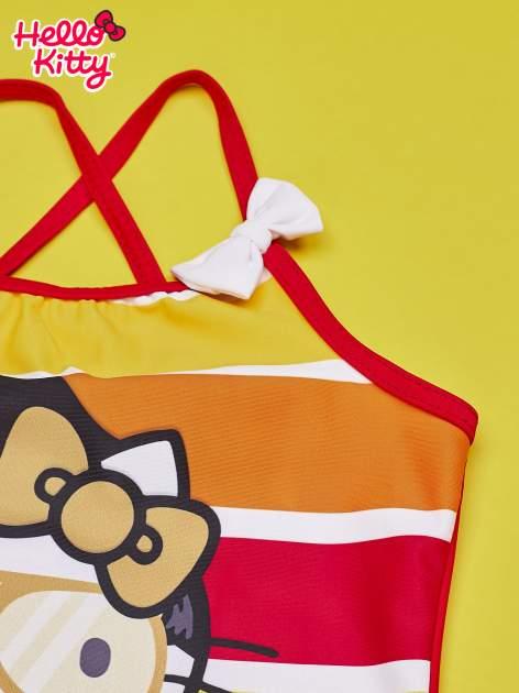 Czerwony strój kąpielowy dla dziewczynki HELLO KITTY                                  zdj.                                  3
