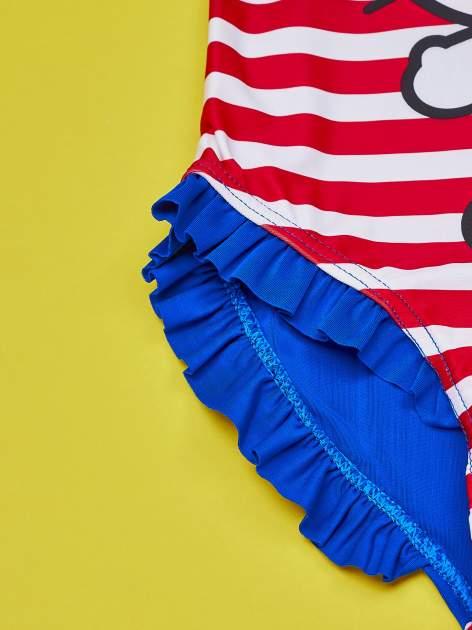 Czerwony strój kąpielowy w paski dla dziewczynki HELLO KITTY                                  zdj.                                  3