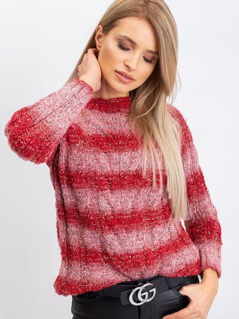 Czerwony sweter Harper                              zdj.                              5