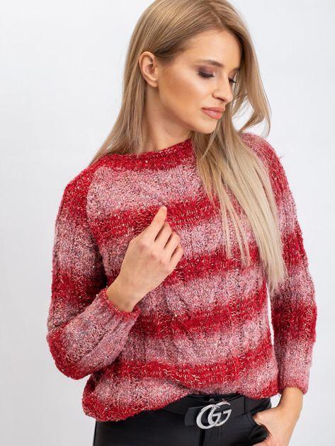 Czerwony sweter Harper                              zdj.                              3