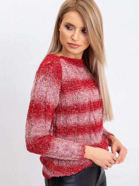 Czerwony sweter Harper                              zdj.                              6
