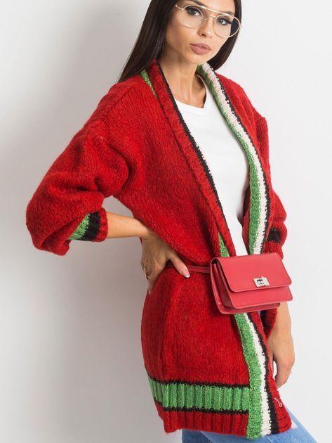Czerwony sweter Lavish                              zdj.                              3