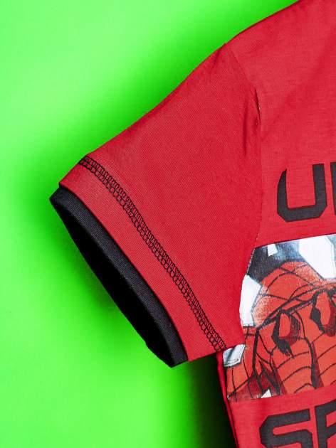 Czerwony t-shirt chłopięcy SPIDERMAN                                  zdj.                                  6