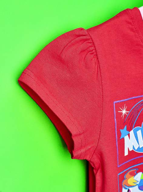 Czerwony t-shirt dla dziewczynki z motywem MY LITTLE PONY                                  zdj.                                  6