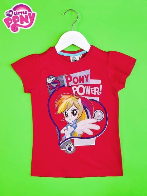Czerwony t-shirt dla dziewczynki z nadrukiem MY LITTLE PONY                                   zdj.                                  1