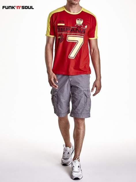 Czerwony t-shirt męski z napisem ESPANA Funk n Soul                                  zdj.                                  7