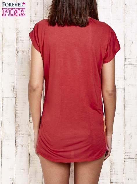 Czerwony t-shirt w poziome pasy                                  zdj.                                  2
