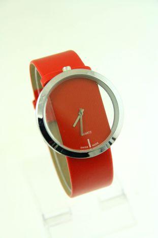 Czerwony zegarek damski na skórzanym pasku                                  zdj.                                  1