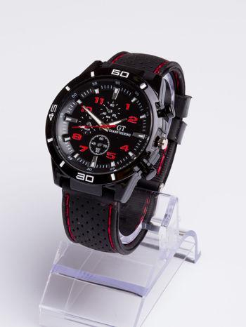 DLA NIEGO... Czarno-czerwony sportowy zegarek męski GT GRAND TOURING                                  zdj.                                  2