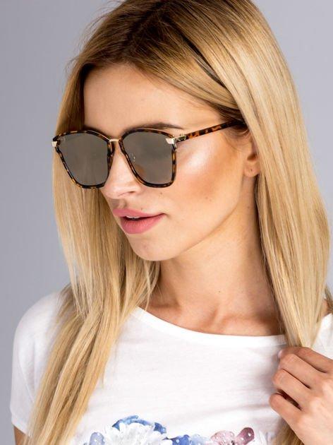Damskie okulary przeciwsłoneczne pantera lustrzanki w nowoczesnym stylu HIT !