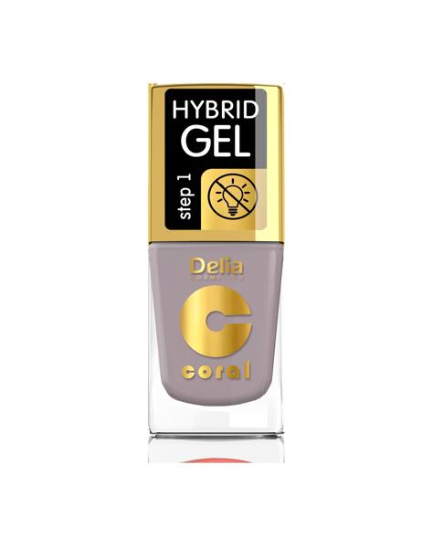 "Delia Cosmetics Coral Hybrid Gel Emalia do paznokci nr 57 Kawa  11ml"""