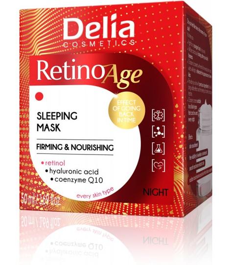 """Delia Cosmetics RetinoAge Maska ujędrniająco-odżywcza na noc 50ml"""""""