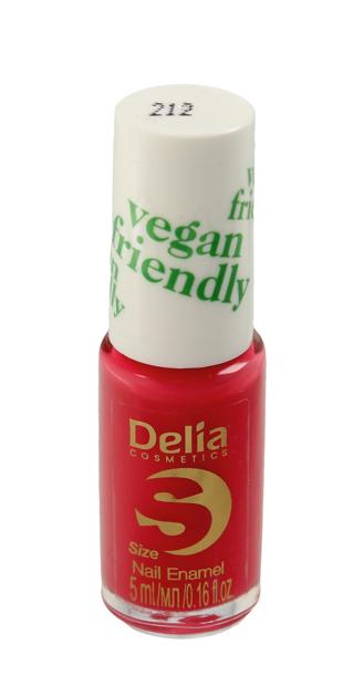 "Delia Cosmetics Vegan Friendly Emalia do paznokci Size S nr 212 Coraline  5ml"""
