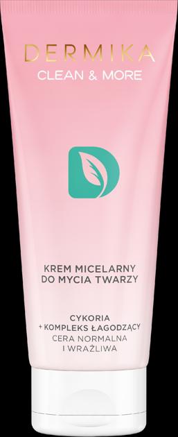 """Dermika Clean & More Krem micelarny do mycia twarzy - cera normalna i wrażliwa 150ml"""""""