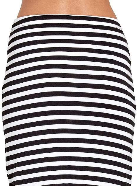 Długa spódnica maxi w biało-czarne paski                                  zdj.                                  7