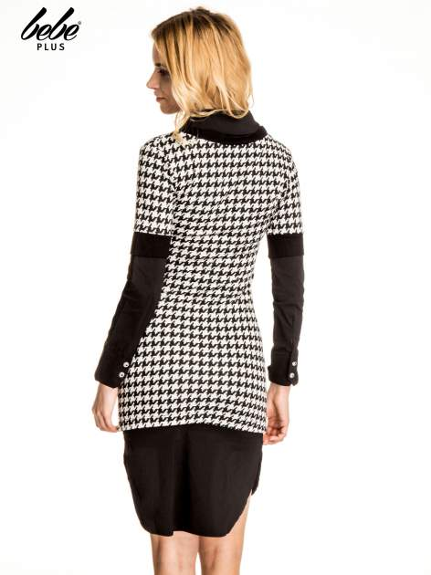 Dwuczęściowa sukienka w pepitkę z czarną koszulą                                  zdj.                                  4
