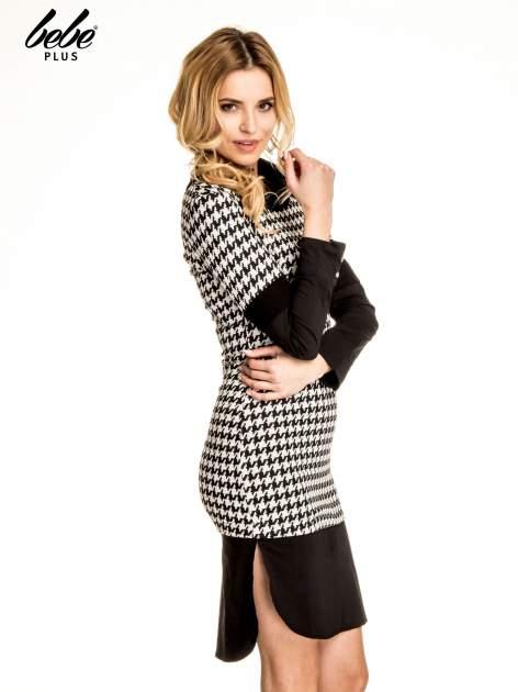 Dwuczęściowa sukienka w pepitkę z czarną koszulą                                  zdj.                                  3