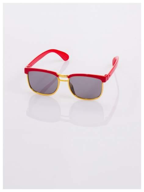 Dziecięce czerwono-złote okulary przeciwsłoneczne z filtrami                                  zdj.                                  2