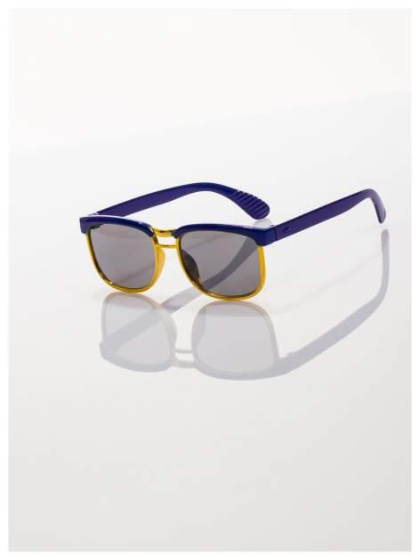 Dziecięce niebieskio-złote okulary przeciwsłoneczne z filtrami                                  zdj.                                  1