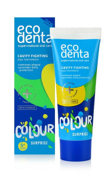 """ECODENTA Colour Surprise Pasta do zębów dla dzieci 6+ 75ml"""""""