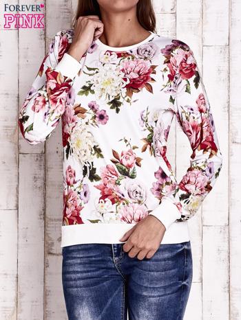 Ecru bluza z kwiatowym motywem                                  zdj.                                  1