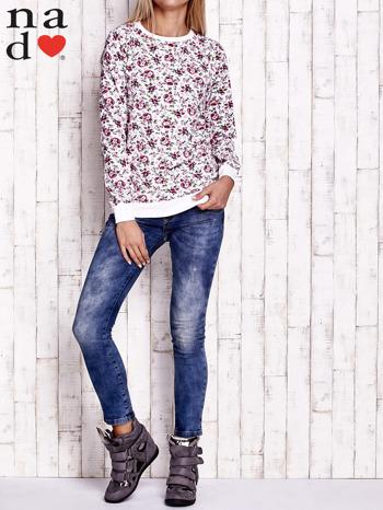 Ecru bluza z kwiatowymi motywami                                  zdj.                                  4