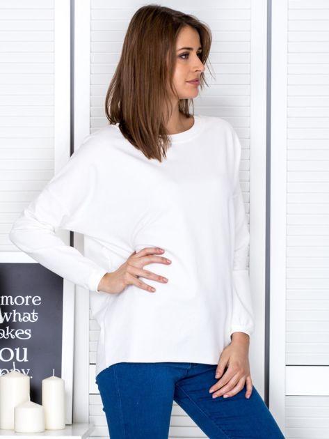 Ecru bluza z listwą z perełek                                  zdj.                                  5