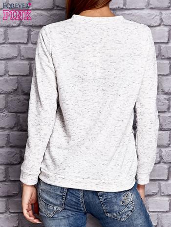 Ecru bluza z motywem kotów                                  zdj.                                  2