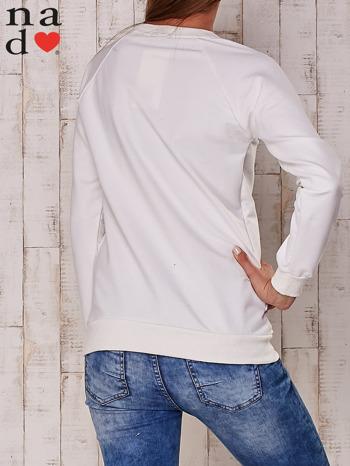 Ecru bluza z nadrukiem gwiazdy                                  zdj.                                  4