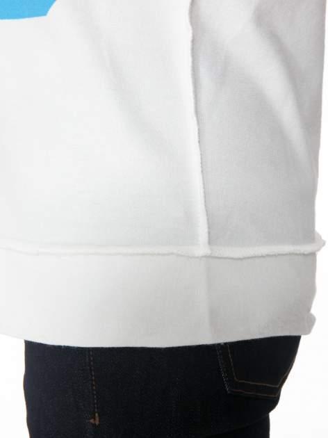 Ecru bluza z nadrukiem numerycznym 23                                  zdj.                                  7