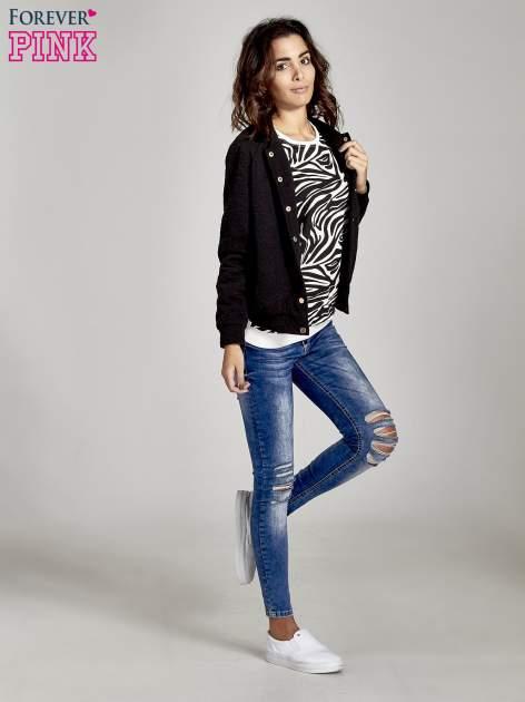 Ecru bluza z nadrukiem zebra print                                  zdj.                                  2