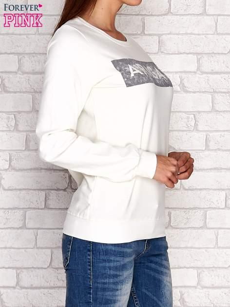 Ecru bluza z napisem ARIGATO                                  zdj.                                  3