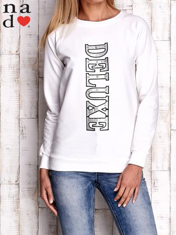 Ecru bluza z napisem DELUXE