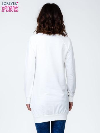 Ecru bluza z napisem GLAMOUR                                  zdj.                                  4