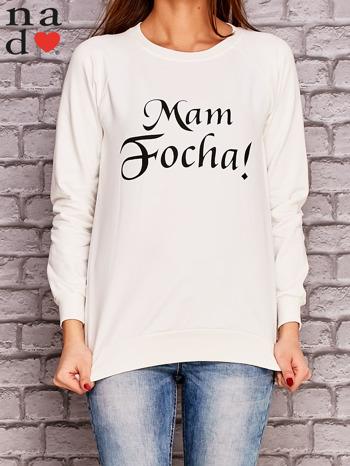 Ecru bluza z napisem MAM FOCHA                                  zdj.                                  1