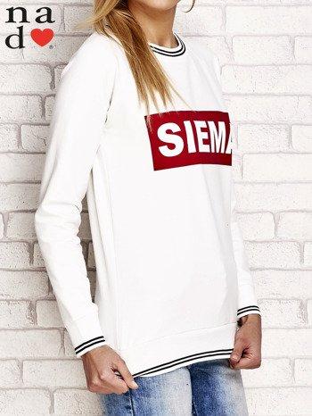 Ecru bluza z napisem SIEMA                                  zdj.                                  3