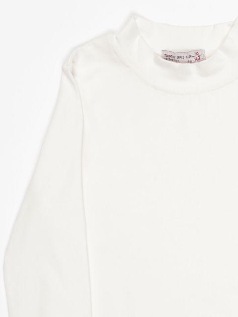 Ecru bluzka dziecięca z półgolfem                               zdj.                              16