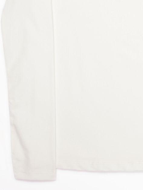 Ecru bluzka dziecięca z półgolfem                               zdj.                              17