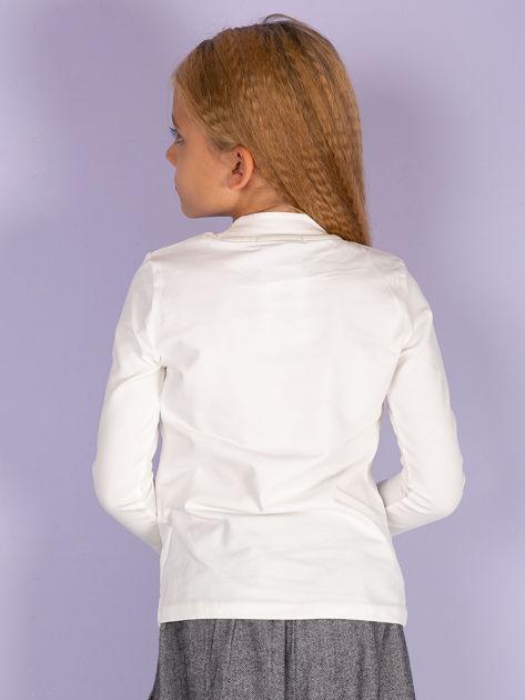 Ecru bluzka dziecięca z półgolfem                               zdj.                              3