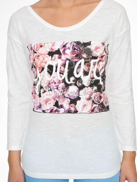 Ecru bluzka z motywem kwiatowym YOU ARE...                                  zdj.                                  6