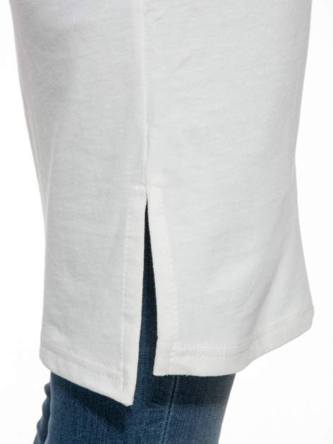 Ecru dresowa bluza z literą A w stylu baseballowym                                  zdj.                                  7